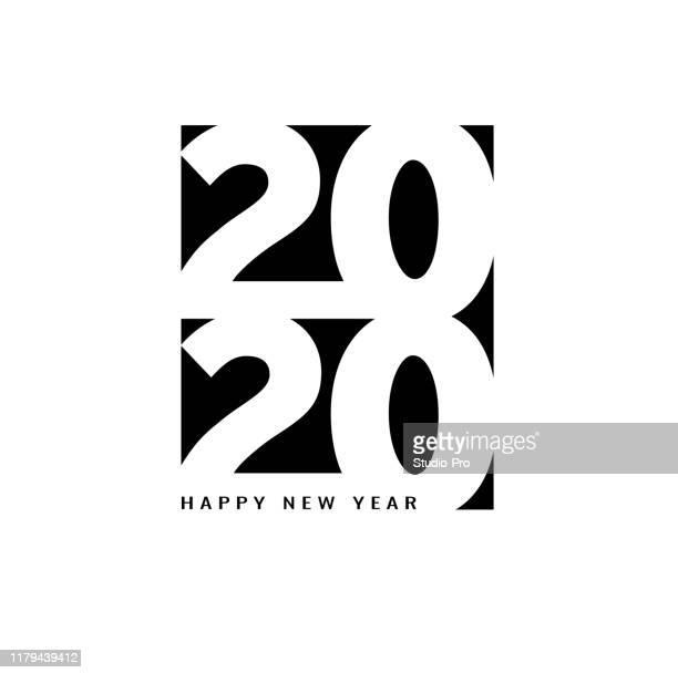 illustrazioni stock, clip art, cartoni animati e icone di tendenza di buon anno 2020 lettering per il tuo natale - 2020