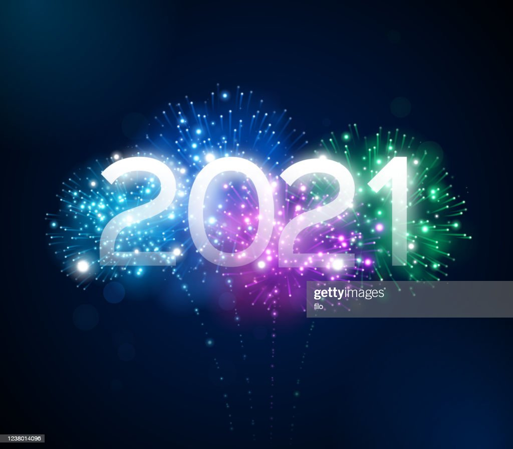 Happy New Year 2021 Fireworks Display High-Res Vector Graphic - Getty Images