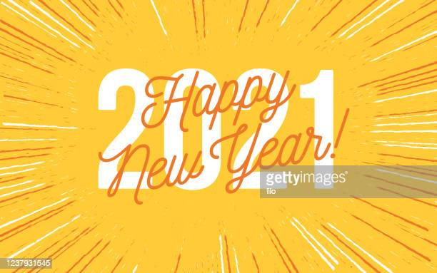 happy new year 2021 - new year's eve stock illustrations