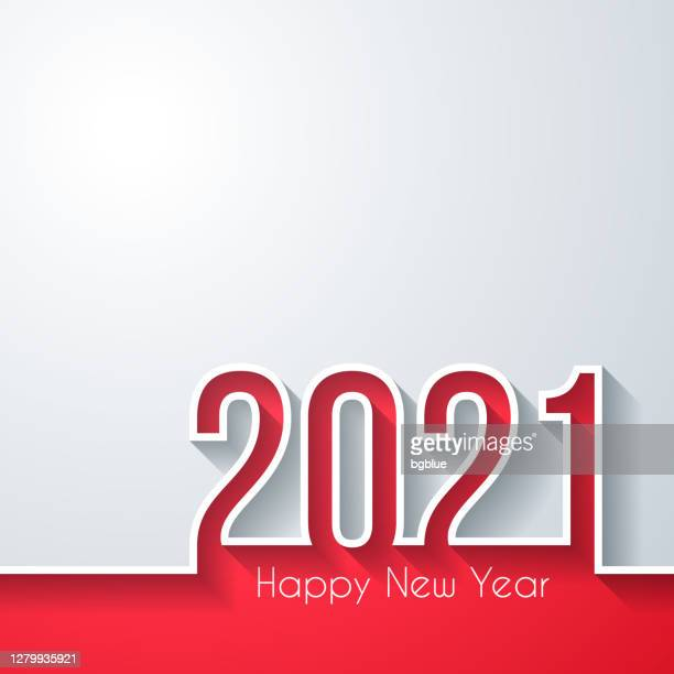 happy new year 2021 - white background - 2021 stock illustrations