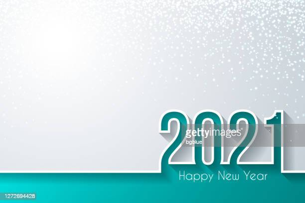 happy new year 2021 with gold glitter - white background - new year's eve stock illustrations