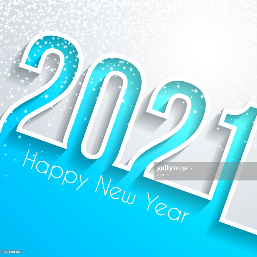 Happy New Year 2021 With Gold Glitter White Background High Res Vector Graphic Getty Images