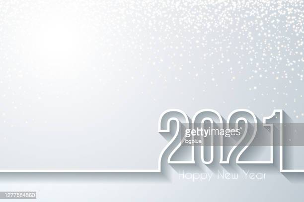 happy new year 2021 with gold glitter - white background - 2021 stock illustrations