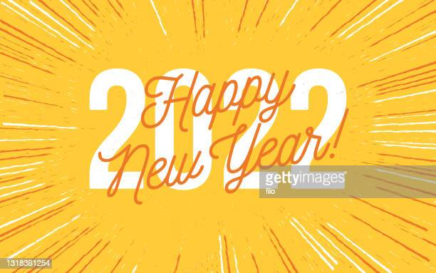 stockillustraties, clipart, cartoons en iconen met gelukkig nieuwjaar 2022 - nieuwjaarsreceptie