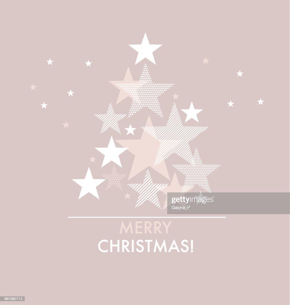 Frohes Neues Jahr Und Xmas Tree Muster Mit Geometriestars ...