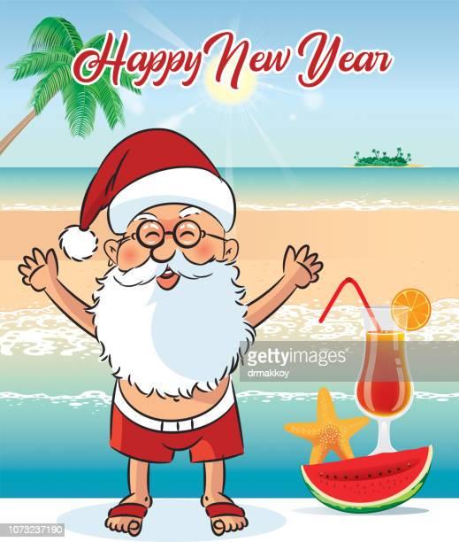 Happy New Year Australia and Summer Beach