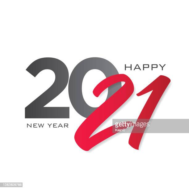 2021年明けましておめでとうございます。2021レタリング。季節のグリーティング カード テンプレート。ストックイラスト - 2021年点のイラスト素材/クリップアート素材/マンガ素材/アイコン素材