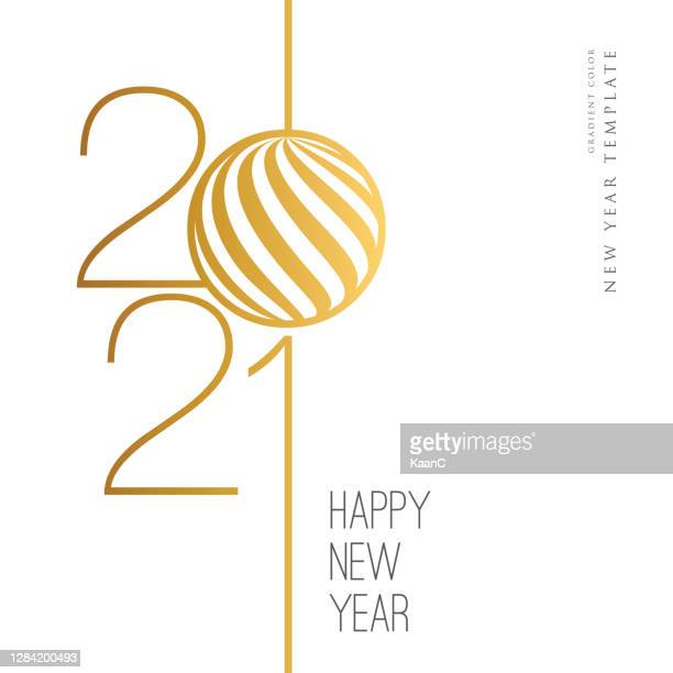 2021 happy new year background. seasonal greeting card template. stock illustration - 2021 stock illustrations