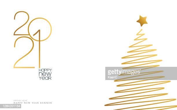 ilustrações de stock, clip art, desenhos animados e ícones de 2021 happy new year background. seasonal greeting card template. stock illustration - anonovo