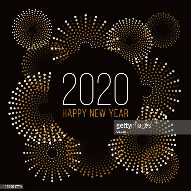 happy new year background with fireworks. stock illustration - 2020 stock illustrations