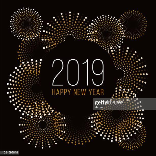 花火で幸せな新年の背景。 - 伝統的な祭り点のイラスト素材/クリップアート素材/マンガ素材/アイコン素材