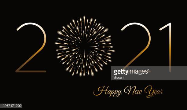 happy new year background with fireworks. winter holiday design template. - 2021 stock illustrations