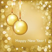 Happy New Year Beautiful Gold Design