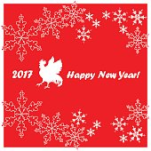 Happy New Year. Christmas pattern, ornament.