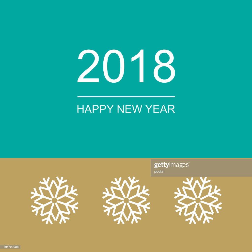 Happy New Year. Congratulatory poster.