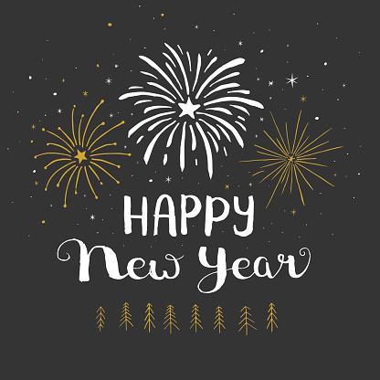 Happy new year fireworks - gettyimageskorea