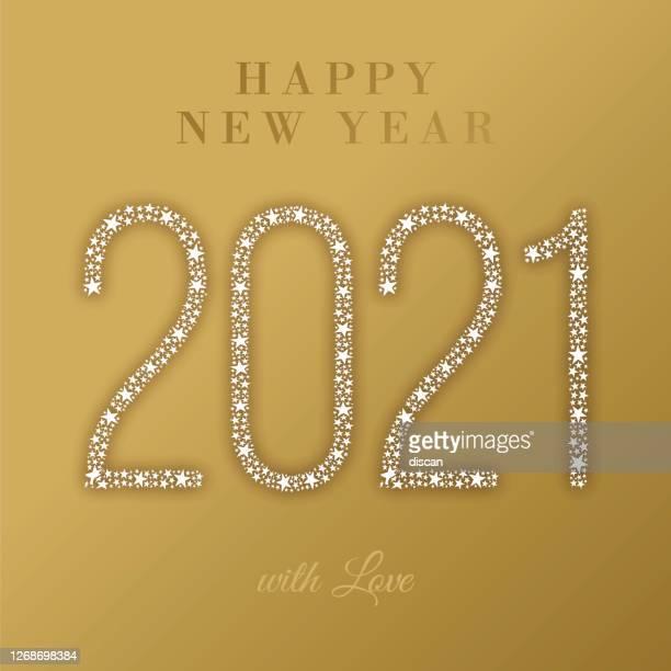 2021 - happy new year greeting card. stock illustration - christmas cash stock illustrations