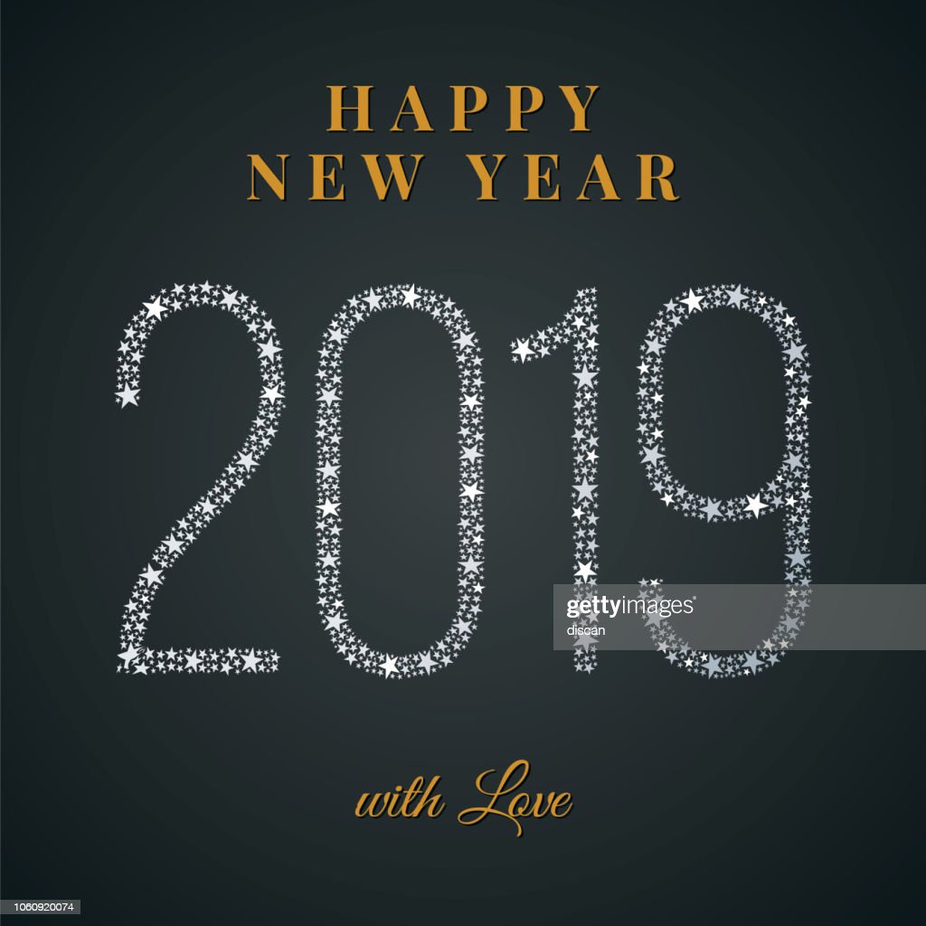 2019 Happy New Year Greeting Card Vector Art | Getty Images