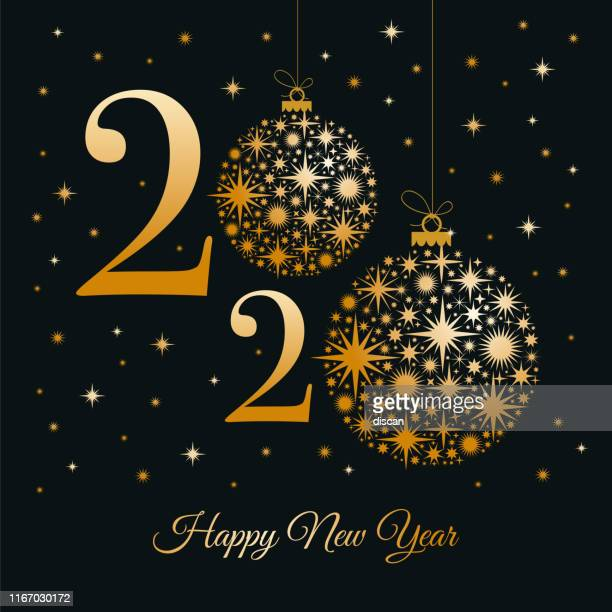 2020 - happy new year greeting card. winter holiday design template. - christmas cash stock illustrations