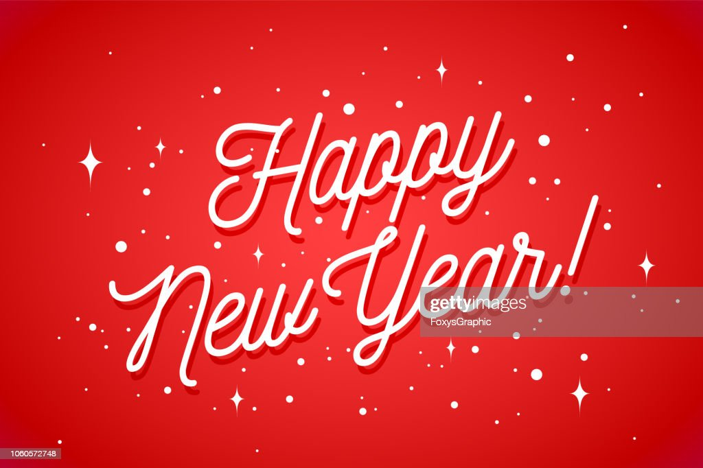 Happy New Year. Greeting card with inscription