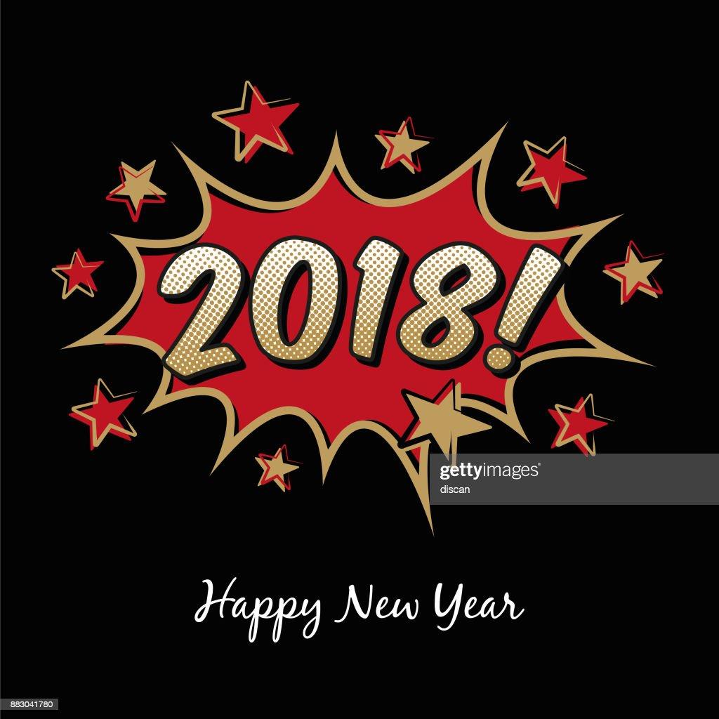 2018 happy new year greetings vector art getty images 2018 happy new year greetings kristyandbryce Gallery