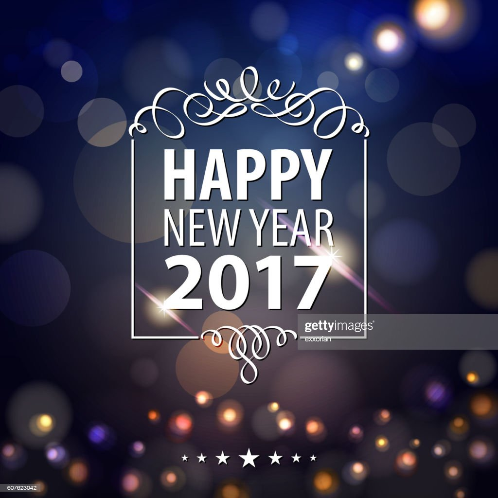 Happy New Year Lights 2017