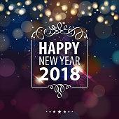 Happy New Year Lights 2018