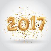 Happy new year Metallic Gold Balloons