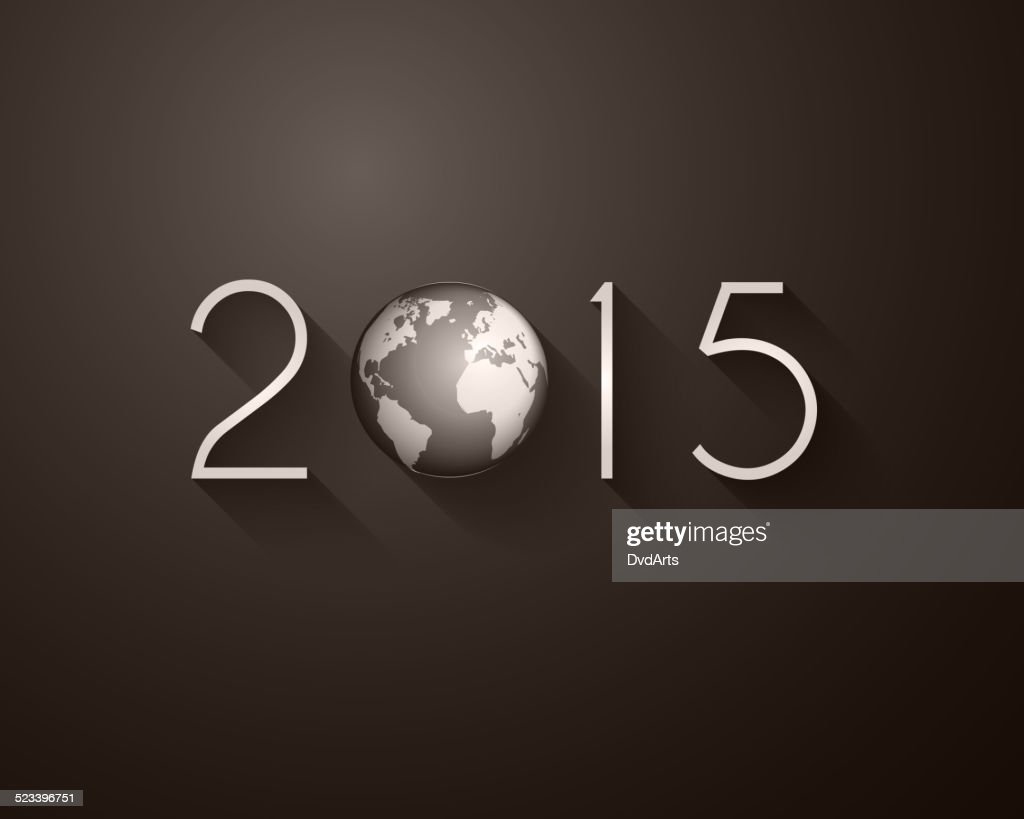 2015 happy new year party background vector art