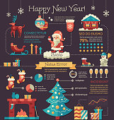 Happy New Year - poster, brochure cover template