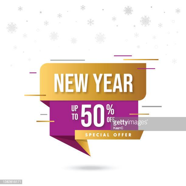 happy new year sale banner. seasonal sale template. stock illustration - giving stock illustrations