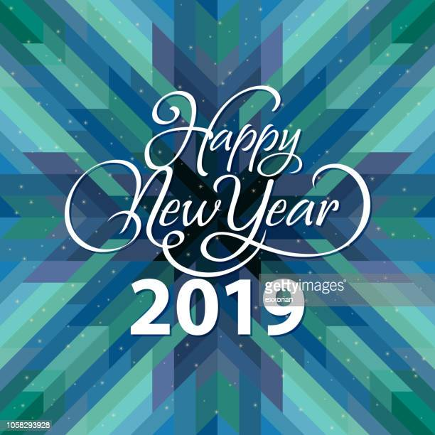 2019 happy new year - quilt stock illustrations, clip art, cartoons, & icons