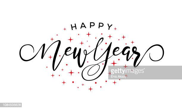 happy new year - new year's eve stock illustrations