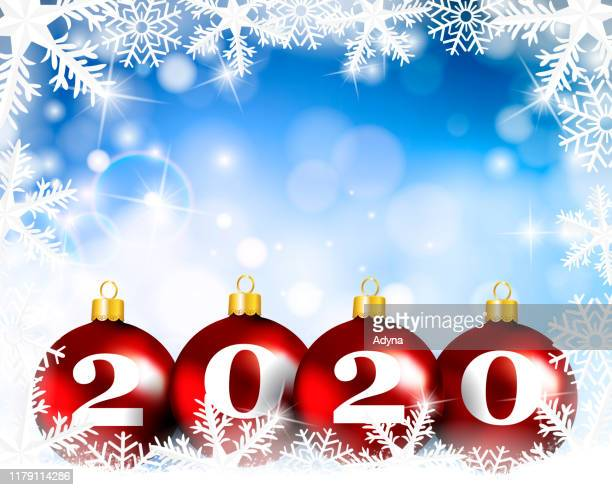 happy new year - red white blue background stock illustrations