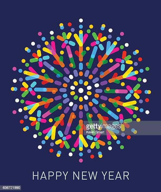 happy new year - sparks stock illustrations, clip art, cartoons, & icons