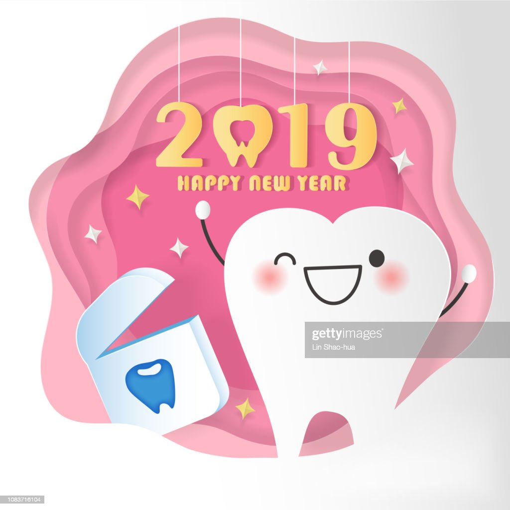happy new year with teeth