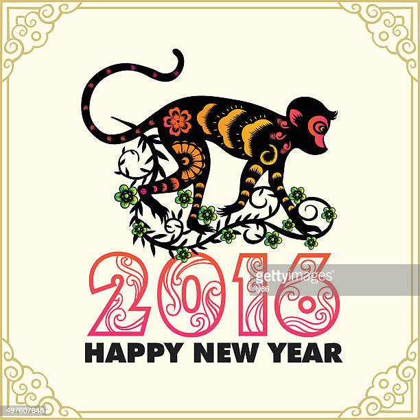 happy new year, year of the monkey 2016