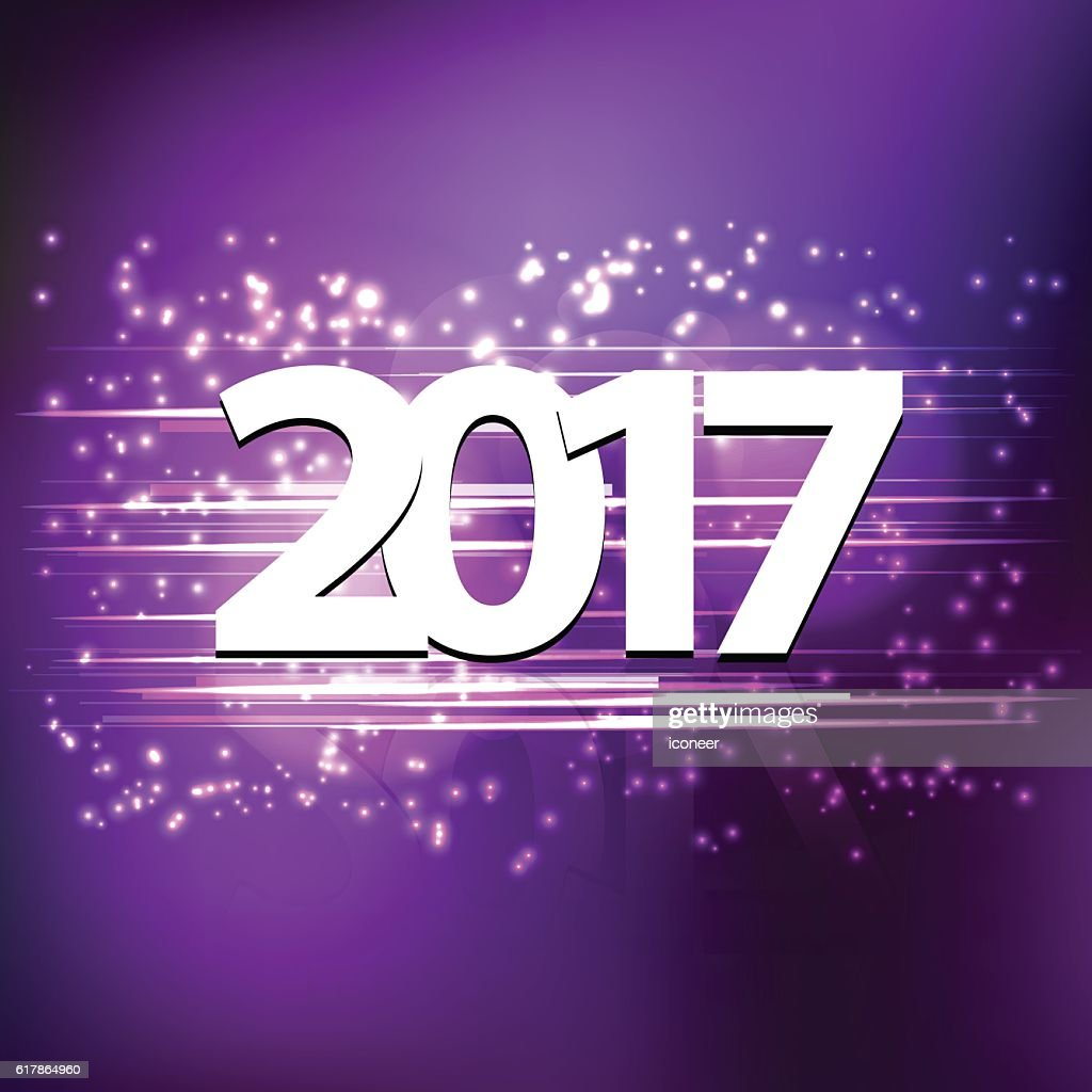 Happy new years eve 2017 on purple background getty happy new years eve 2017 on purple background voltagebd Image collections