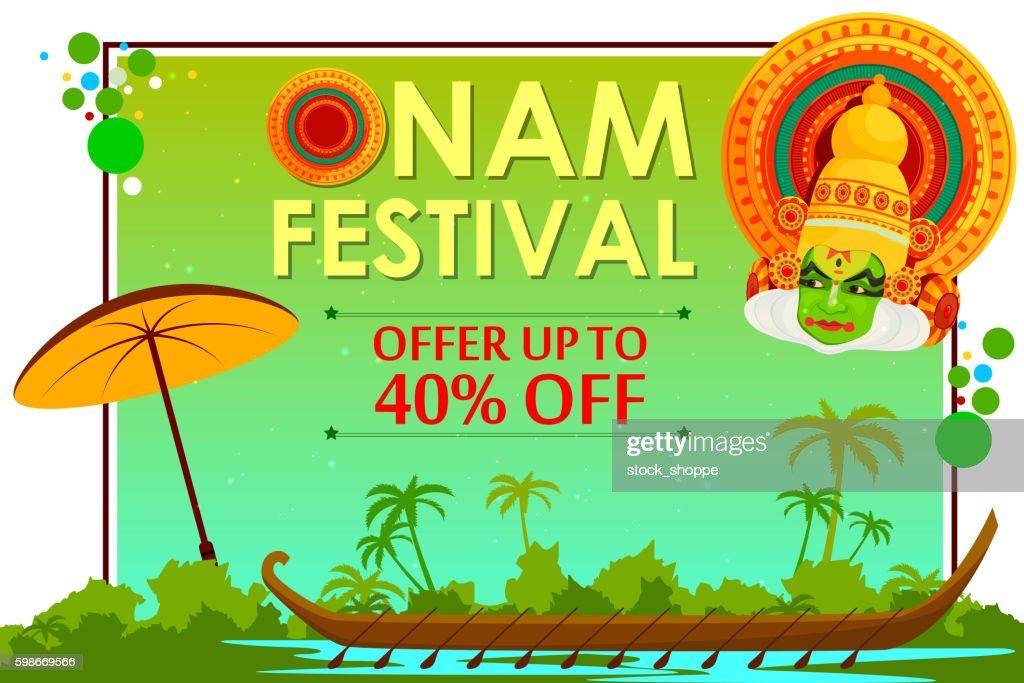 Happy Onam shopping sale offer