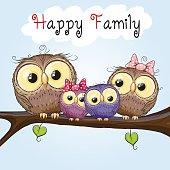 Happy Owls Family