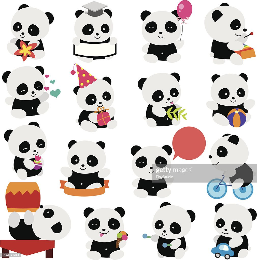 happy panda clip art