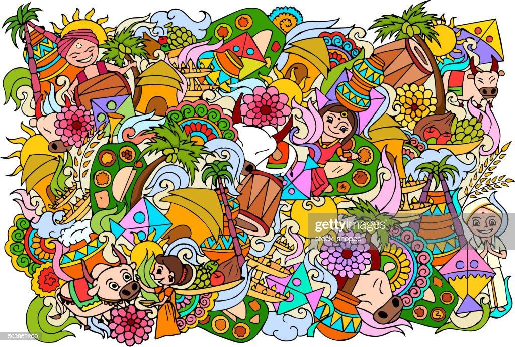 Happy Pongal celebration background