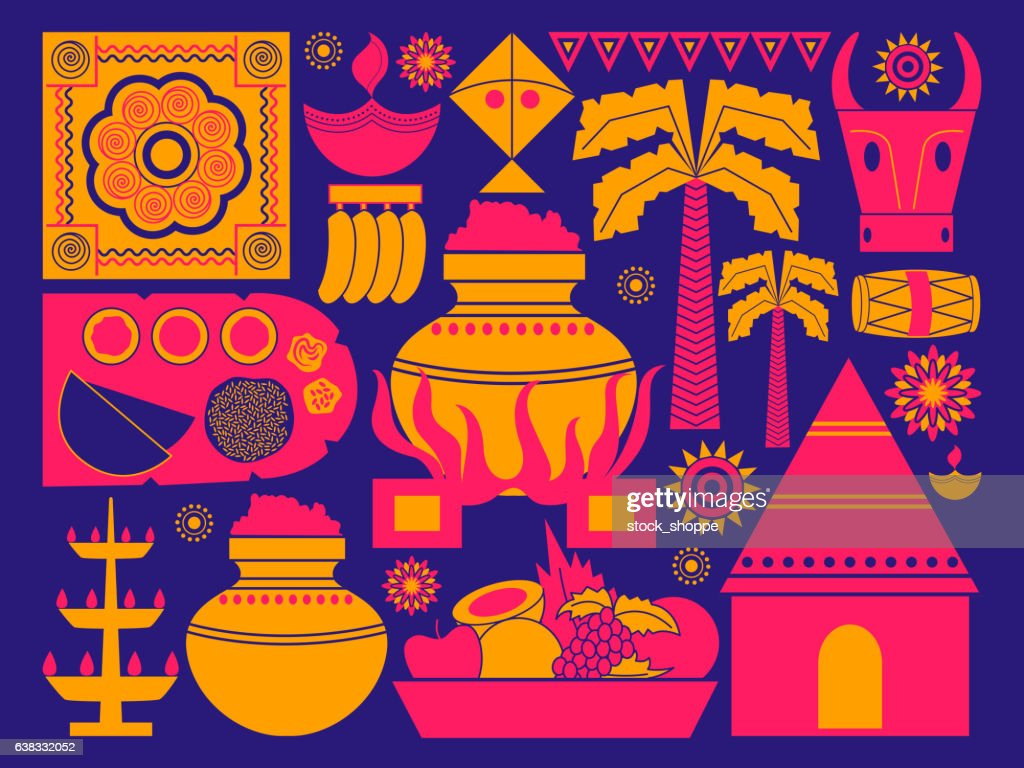 Happy Pongal festival celebration background