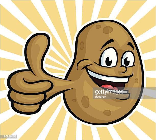 ilustraciones, imágenes clip art, dibujos animados e iconos de stock de feliz de papas - patatas preparadas