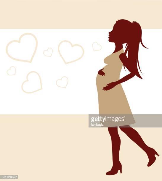 happy pregnant woman. - maternity wear stock illustrations