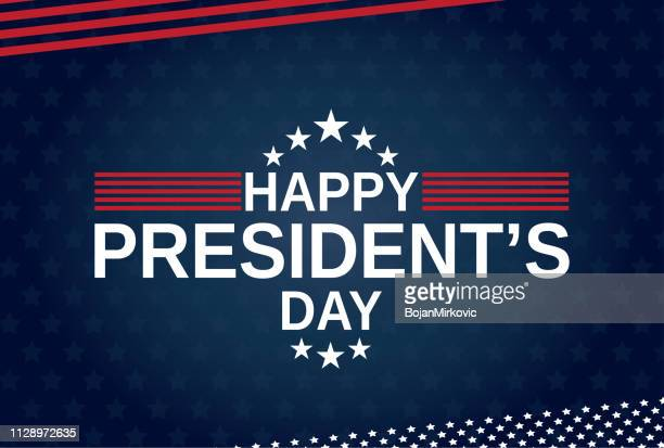 happy presidents day blue poster, card or background. vector illustration. - {{asset.href}} stock illustrations