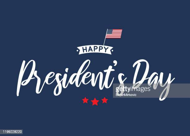 happy president's day card, poster, background. vector - february stock illustrations