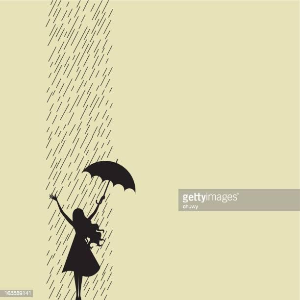 ilustraciones, imágenes clip art, dibujos animados e iconos de stock de feliz día de lluvia - chuwy