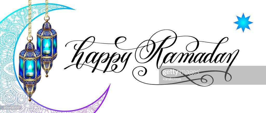 happy ramadan greeting card
