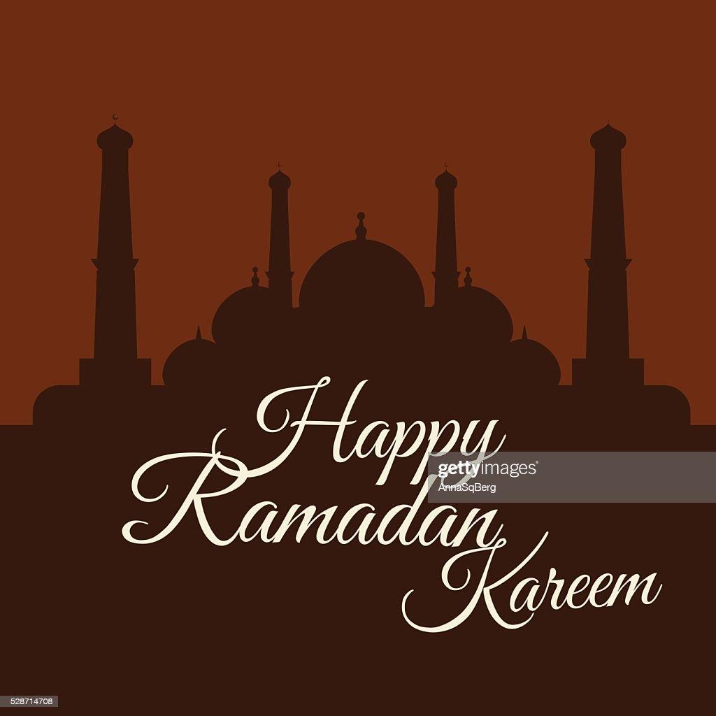 Happy Ramadan Kareem, greeting background vector illustration